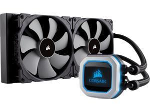 Corsair Hydro Series, H115i PRO RGB, CW-9060032-WW, 280mm, Dual 140mm ML PWM Fans, Advanced RGB Lighting & Fan Control w/ Software Liquid CPU Cooler, Support: Intel 2066, AMD AM4.