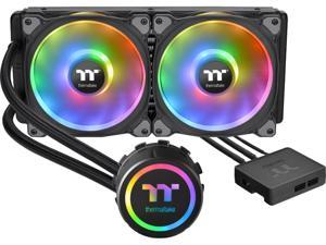Thermaltake Floe DX 280 Dual Riing Duo 16.8 Million Colors RGB 36 LED LGA2066 AM4 Ready Intel/AMD Liquid Cooling All-in-One CPU Cooler CL-W257-PL14SW-B