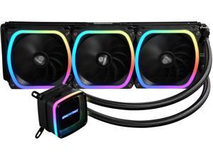 Enermax AQUAFUSION 360 Addressable RGB All-in-one CPU Liquid Cooler for AM4 / LGA 1200, 360mm Radiator, Dual-Chamber Water Block, SquA RGB Fans, 5 Year Warranty