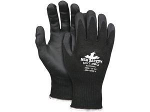 Cut Gloves,L,Blk,A6 Cut Level,PR MCR SAFETY 92720NFL
