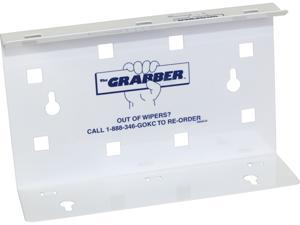 """The Grabber Wiper Dispenser for WypAll Wipes (09352), Space-Saving, For Pop-Up Boxes, 9.4"""" x 2.8"""" x 5.9"""", White, 1 Each"""