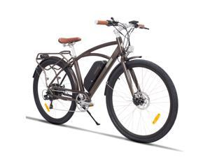 """MZZK 48V 12.8AH Removable Lithium Battery 500W Aluminum Electric Bike For Adults ,28"""" Tire Vintage Ebike road racing Bicycle High Power 1 Year Warranty A02"""