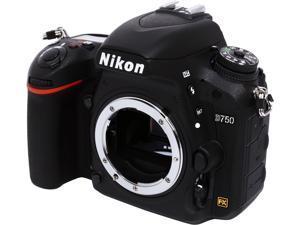 Nikon D750 1543 Black 24.3 MP Digital SLR Camera - Body