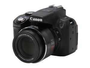 Canon PowerShot SX50 HS Black Approx. 12.1 MP 50X Optical Zoom 24mm Wide Angle Digital Camera HDTV Output