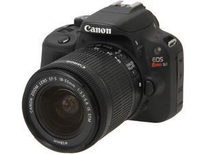 Canon Rebel SL1 8575B003 Black 18.0 MP Digital SLR Camera with 18-55mm IS STM Lens