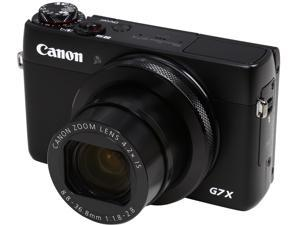 Canon PowerShot G7 X Black 20.2 MP 4.2X Optical Zoom 24mm Wide Angle Digital Camera HDTV Output