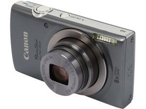 Canon PowerShot ELPH 160 Silver 20.0 MP 8X Optical Zoom 28mm Wide Angle Digital Camera