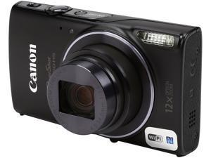 Canon PowerShot ELPH 350 HS Black 20.2 MP 12X Optical Zoom 25mm Wide Angle Digital Camera
