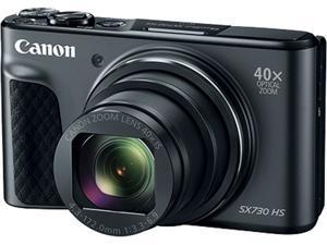 Canon SX730 HS Black 20.3 MP 40X Optical Zoom Digital Camera