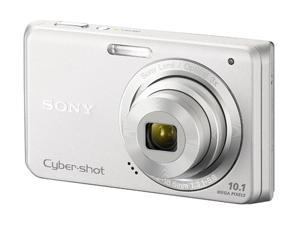 SONY Cyber-shot DSC-W180 Silver 10.1 MP 3X Optical Zoom Digital Camera