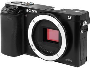 "SONY Alpha a6000 ILCE-6000/B Black 24.3 MP 3.0"" 921.6K LCD Mirrorless Camera - Body Only"