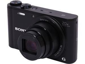SONY Cyber-shot WX350 Black 18.2 MP 20X Optical Zoom 25mm Wide Angle Digital Camera HDTV Output