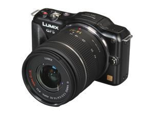 "Panasonic LUMIX DMC-GF5K Black 12.1 MP 3.0"" 920K Touch LCD Digital Interchangeable Lens System Camera w/ 14-42mm Lens"