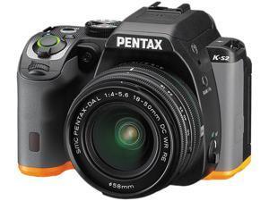 PENTAX K-S2 13207 Black / Orange 20.12 MP Digital SLR Camera With 18-50mm Lens