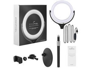 ERGOPIXEL EP-PC0001 Desktop Tripod Stand With LED Ring Light - Black