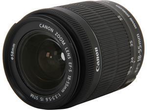 Canon 8114B002 EF-S 18-55mm f/3.5-5.6 IS STM Lens Black