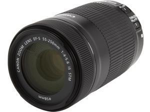 Canon 8546B002 SLR Lenses EF-S 55-250mm f/4-5.6 IS STM Telephoto Zoom Lens Black