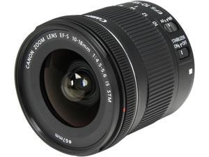 Canon 9519B002 SLR Lenses EF-S 10-18mm f/4.5-5.6 IS STM Lens Black