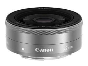 Canon 9808B002 EF-M 22mm f/2 STM Silver Lens Silver
