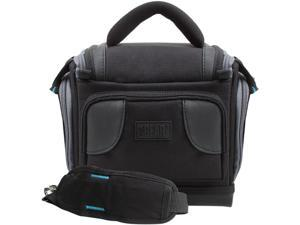 Deluxe Digital SLR Camera Case Bag With Padded Interior Lining, Adjustable Divider, Accessory Pockets and Shoulder Strap by USA Gear - Works with Nikon Coolpix B700, D3300, D3400 and More Cameras