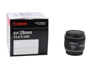 Canon 5179B002 EF 28mm f/2.8 IS USM Wide-Angle Lens Black - International Version