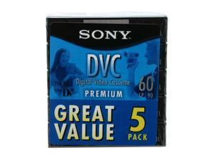 SONY DVM60PRL MiniDV Tape (5 packs)