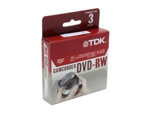 TDK DVD-RW14RGAL3 1.4 GB DVD-RW 3PK
