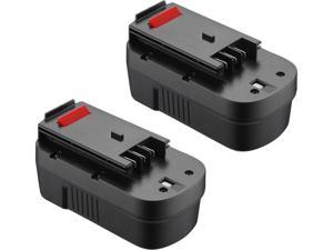 Powerextra 2pcs 3700mAh 18Volt Ni-CD Battery for Black&Decker Firestorm A1718 A18NH HPB18 HPB18-OPE Black and Decker 18V Power Tools