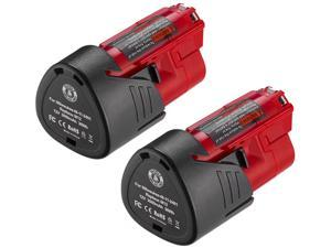 Powerextra 2 Pack 12V 3000mAh Lithium-ion Replacement Battery Compatible for 48-11-2411 48-11-2420 48-11-2401 48-11-2402 48-11-2401 12-Volt M12 Cordless Tools