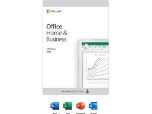 Microsoft Office Home & Business 2019 | One time purchase, 1 device | Windows 10 PC/Mac Download