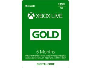 Xbox LIVE 6 Month Gold Membership US (Digital Code)