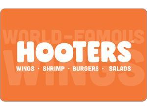 Hooters $10 Gift Card (Email Delivery)