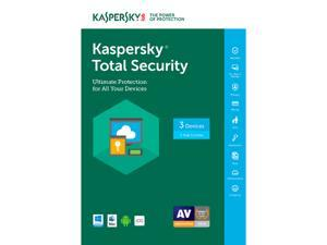 Kaspersky Total Security 2017 - 3 PCs  (Free upgrade to 2018)