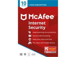 McAfee Internet Security - 10 Devices / 1 Year