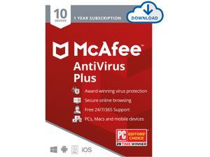 McAfee AntiVirus Plus, 10 Devices 1 Year - Download