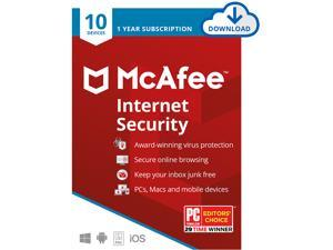 McAfee Internet Security 2021 1 Year / 10 Devices - Download