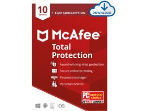 McAfee Total Protection, 10 Devices 1 Year - Download