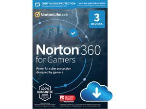 Norton 360 For Gamers 2021 - Includes VPN, Cloud Backup, Gamer Tags & Dark Web Monitor for 3 Devices 1 Year with Auto-Renewal [Download]