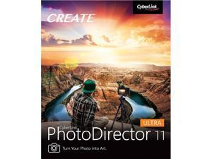 CyberLink PhotoDirector 11 Ultra (DVD and Download Code, Mac/Windows)
