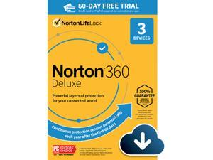 Norton 360 Deluxe 2021 [Online Protection, VPN, 25 GB Cloud Backup & Dark Web Monitor] 3 Devices - Free 60 Days Subscription - Download