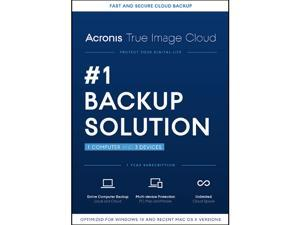 Acronis True Image Cloud 2016 - 1 PC & 3 Devices