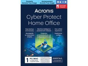 Acronis Cyber Protect Home Office Essentials Subscription 1 Computer - 1 Year Subscription [Download]