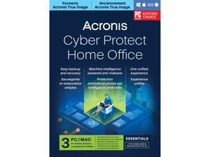 Acronis Cyber Protect Home Office Essentials Subscription 3 Computers - 1 Year Subscription [Download]
