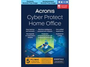 Acronis Cyber Protect Home Office Essentials Subscription 5 Computers - 1 Year Subscription [Download]
