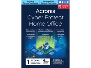 Acronis Cyber Protect Home Office Premium Subscription 1 Computer + 1 TB Acronis Cloud Storage - 1 Year Subscription [Download]
