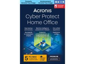 Acronis Cyber Protect Home Office Premium Subscription 5 Computers + 1 TB Acronis Cloud Storage - 1 Year Subscription [Download]