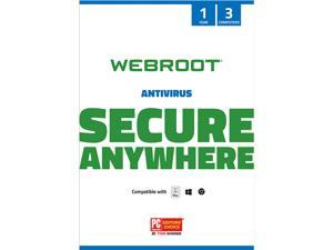 Webroot AntiVirus 3 Devices 1 Year