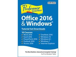 Individual Software Professor Teaches Office 2016 & Windows - Download