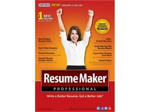 Individual Software ResumeMaker Professional Deluxe 20