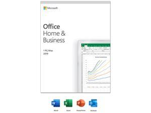 Microsoft Office Home & Business 2019 | One time purchase, 1 device | Windows 10 PC/Mac Keycard